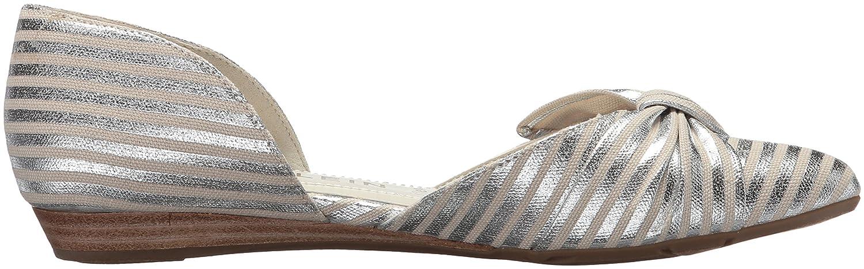 Anne Klein Women's Bette Ballet Flat B078HJ6SHF 8 B(M) US|Silver/Natural