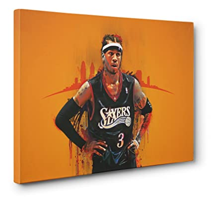85dcbdc32d312 Amazon.com: Allen Iverson The Answer Gallery Wrapped Canvas Wall Art ...