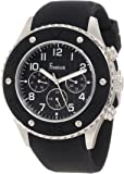 Freelook Men's HA9055-1 Black Chronograph Dial And Black Silicone Bezel With Detail Watch