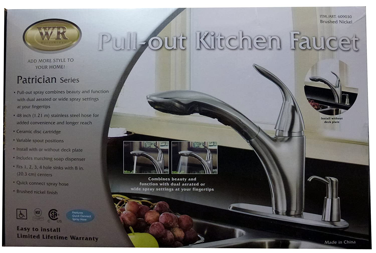 Water Ridge Patrician Series Kitchen Faucet: Brushed Nickel - Touch ...