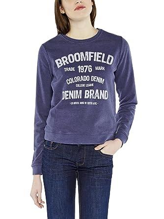 Denim Annie Shirt nightshadow X Bleu Sweat Colorado Femme wvq6w