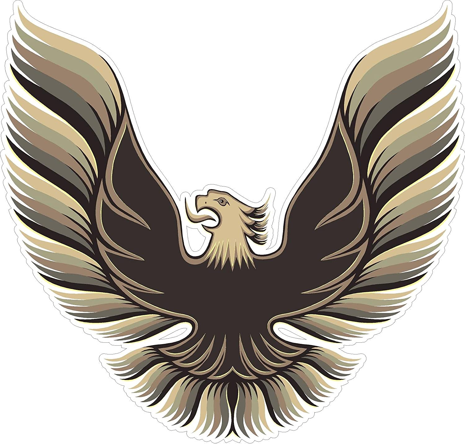 """1980 Trans Am Hood Logo Wall Decal 3ft (24""""x36"""") Sticker Man Cave Decor Gift for Him Father Christmas Gift"""