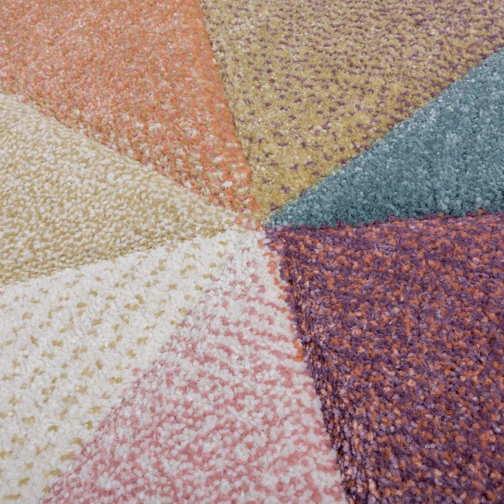 Dimension:60x100 cm Tapis Poils Ras Moderne Tendance Pastel G/éom/étrique Inspiration Multicolore