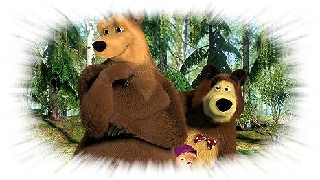 Masha e l orso buegel quadro xxl dimensione a per tessuti