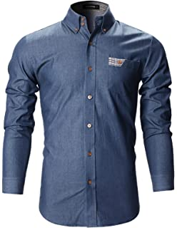 105dab06d83 FLATSEVEN Men s Casual Button Down Shirt at Amazon Men s Clothing store