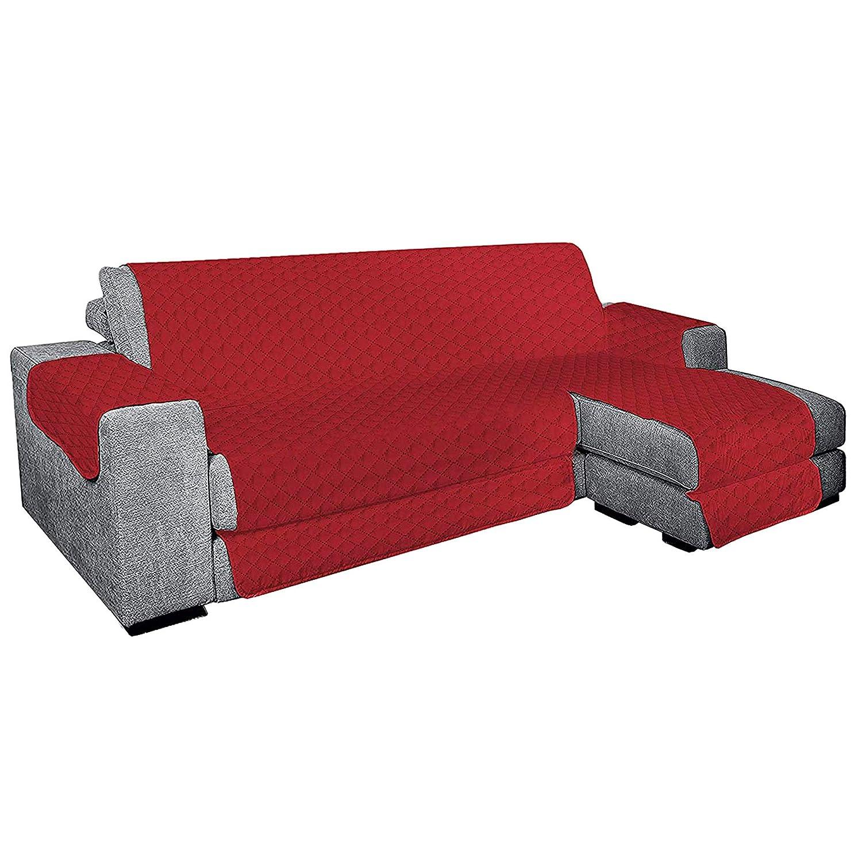 Exclusivo y Suave Funda de sofá Acolchada con Chaise Longue ...