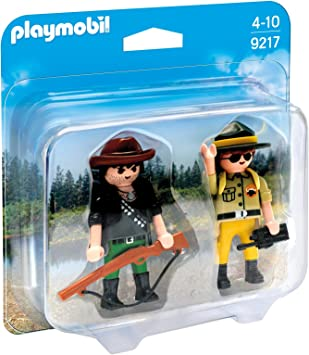 Playmobil Duo Pack Ranger y Cazador Furtivo 9217: Amazon.es ...