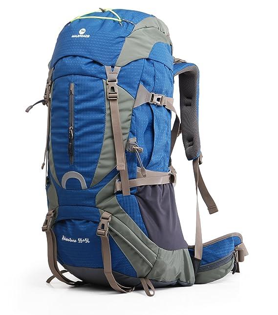 Amazon.com : Maleroads Mountain-Climbing Backpack, Waterproof Large Capacity 60L Rucksacks Hiking Backpack Internal Frame Backpack for Travel Climbing ...