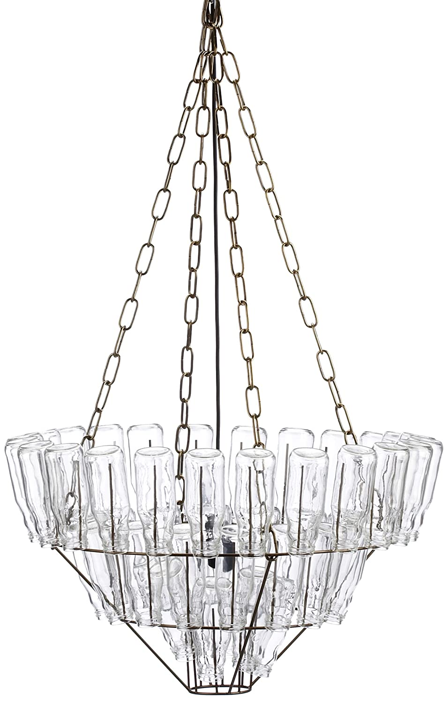 Leitmotiv large bottle chandelier amazon lighting arubaitofo Image collections