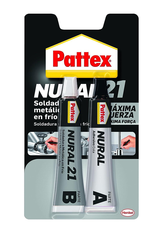 Pattex Nural 21, soldadura reparadora metá lica en frí o, pega&repara, 120 ml soldadura reparadora metálica en frío
