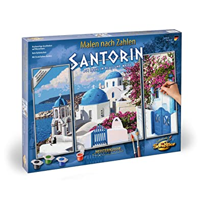 """Schipper 609260783"""" Santorin Painting by Number: Toys & Games"""