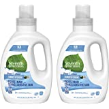 Seventh Generation Concentrated Laundry Detergent, Free & Clear Unscented, 40 Oz, Pack of 2 (106 Loads)
