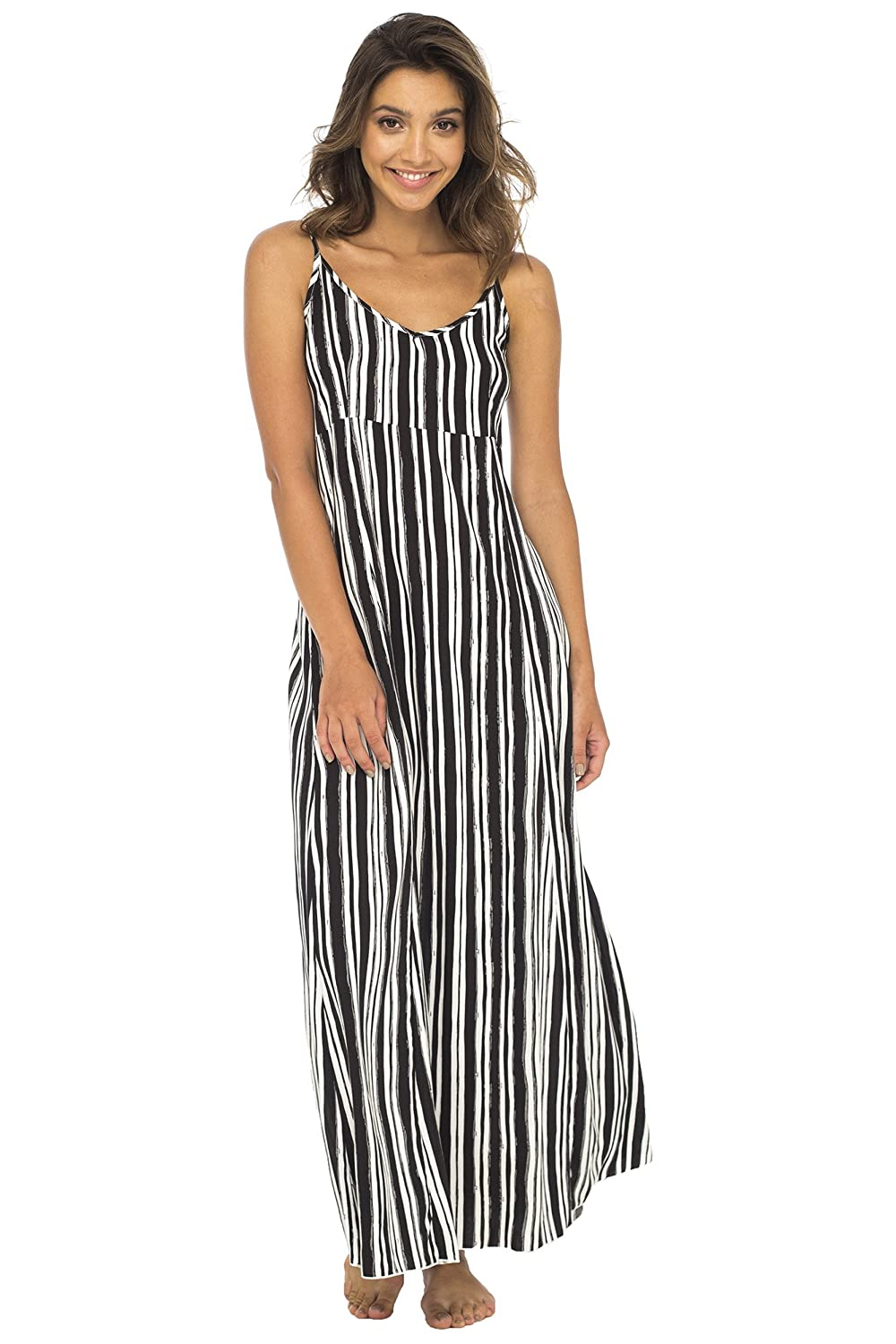 bf0c06d304fd Back From Bali Womens Sleeveless Summer Maxi Dress, Long Casual Striped  Sexy Beach Dress at Amazon Women's Clothing store: