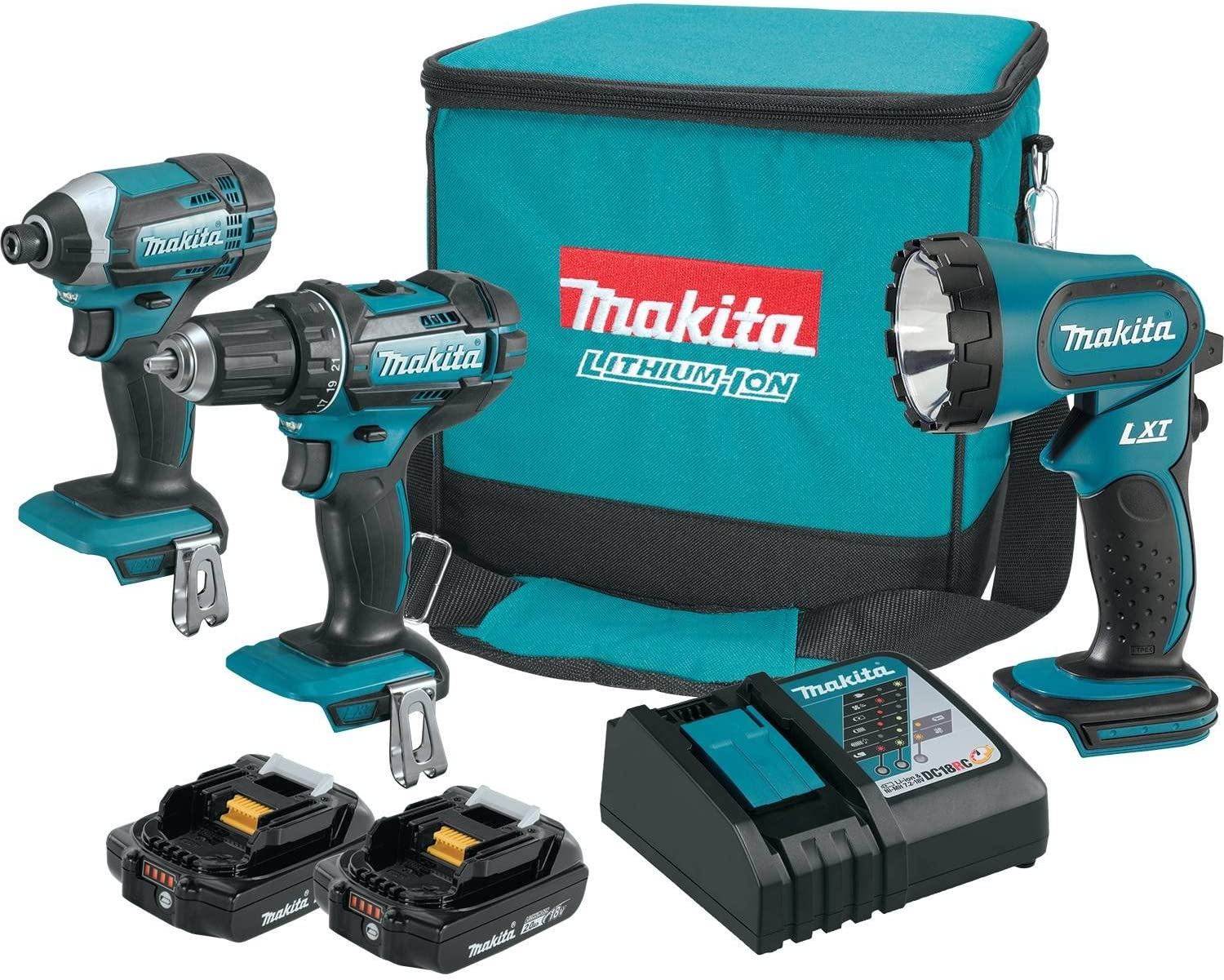 Makita CT320R 18V LXT Lithium-Ion Compact Cordless 3-Pc. Combo Kit 2.0Ah