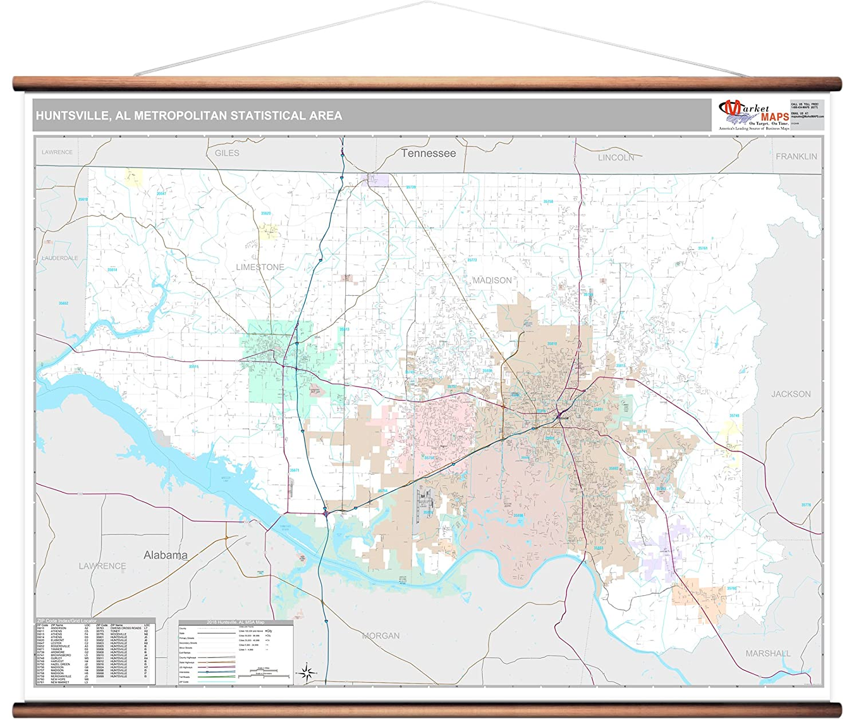 Amazon.com: MarketMAPS Huntsville, AL Metro Area Wall Map ...