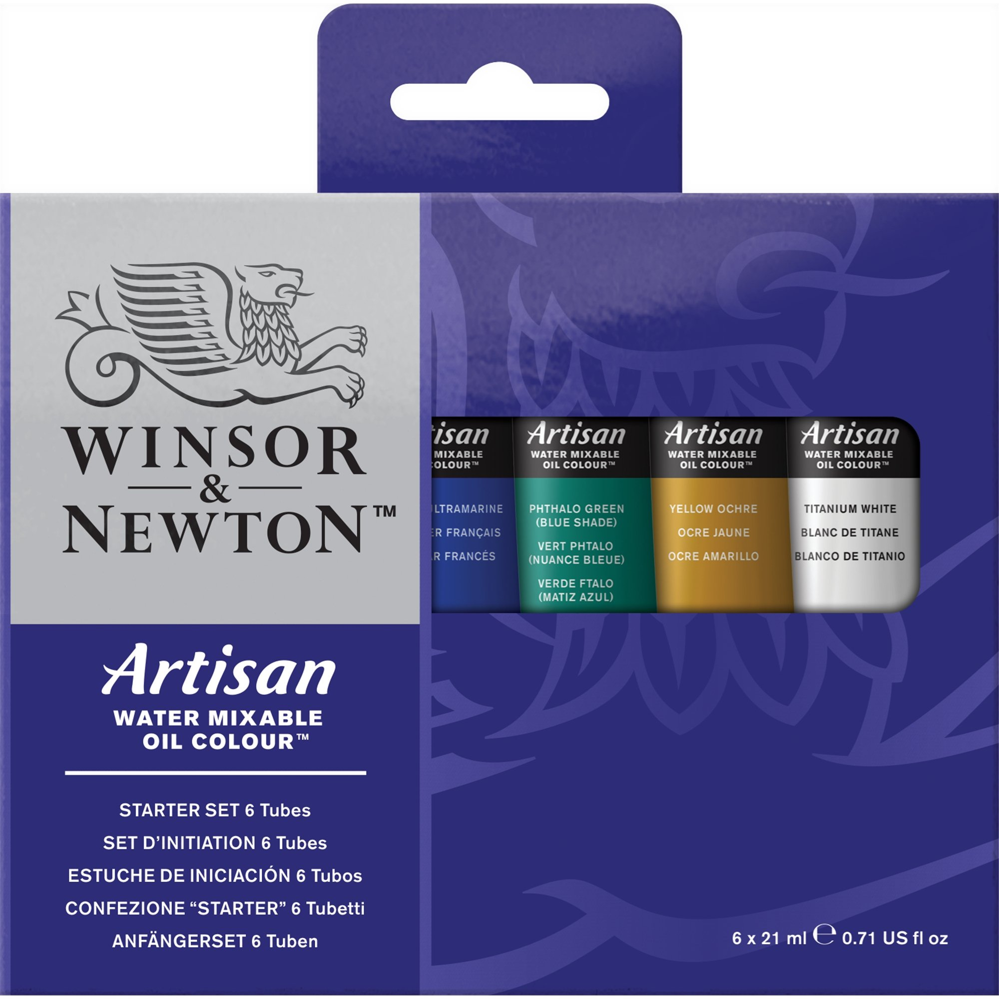 Winsor & Newton Artisan Water Mixable Oil Colour Starter Set, Six 21ml Tubes by Winsor & Newton