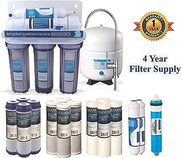 bluonics 5 Etapa Undersink filtro de agua potable de sistema de ...