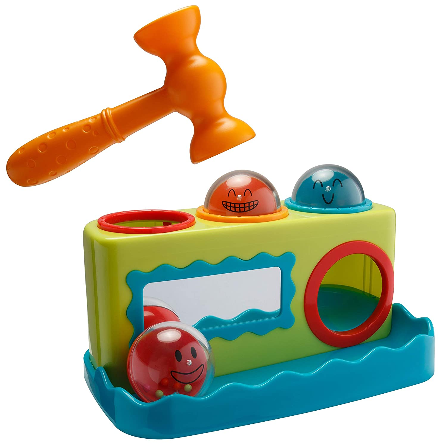 Playkidz Super Durable Roll Toy Hammer Balls Plan Toy Punch for Kids