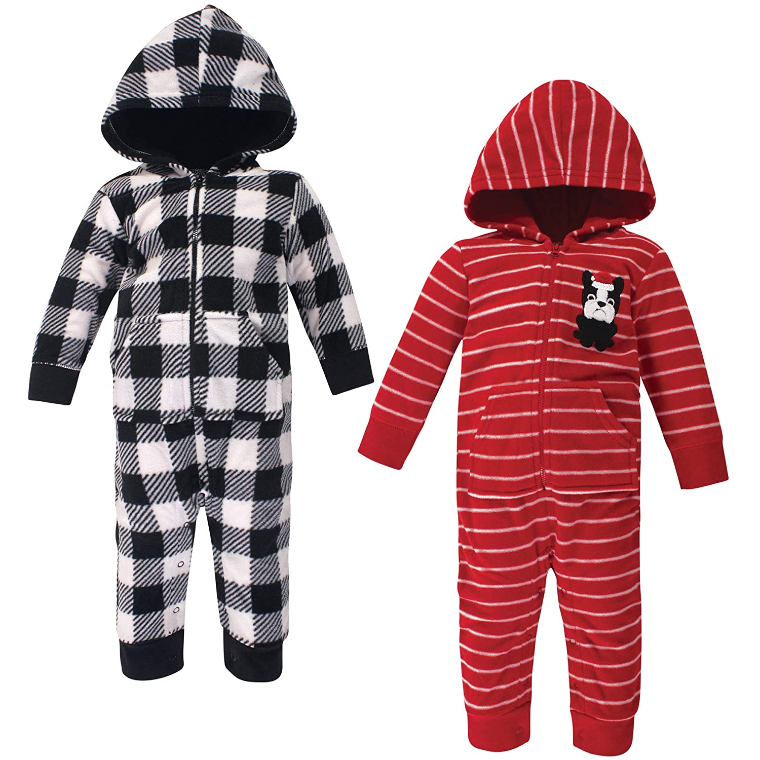 Hudson baby Boys Unisex Baby and Toddler Fleece Jumpsuits and Coveralls