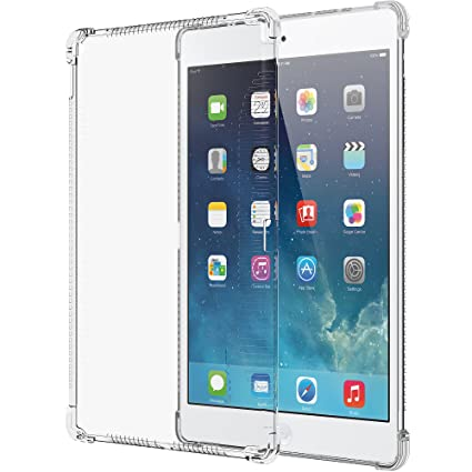 the latest f86ae 8dfba LUVVITT iPad Pro Case, Clear Grip Flexible Soft Transparent TPU Rubber Back  Cover for iPad Pro 12.9 (2015) Air Bounce Shockproof Technology - Clear