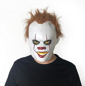 Yacn Pennywise - Máscara de Payaso para Halloween con Luces LED ...