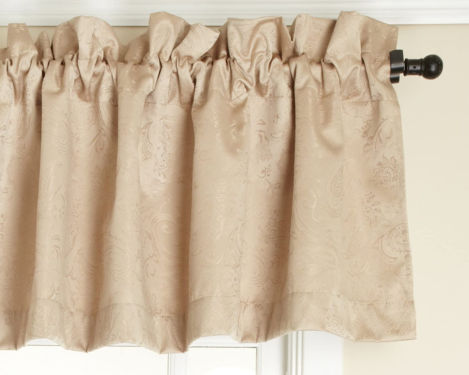 Stylemaster Gabrielle Foamback Valance, Crimson, 56 by 17-Inch Stylemaster Home Products