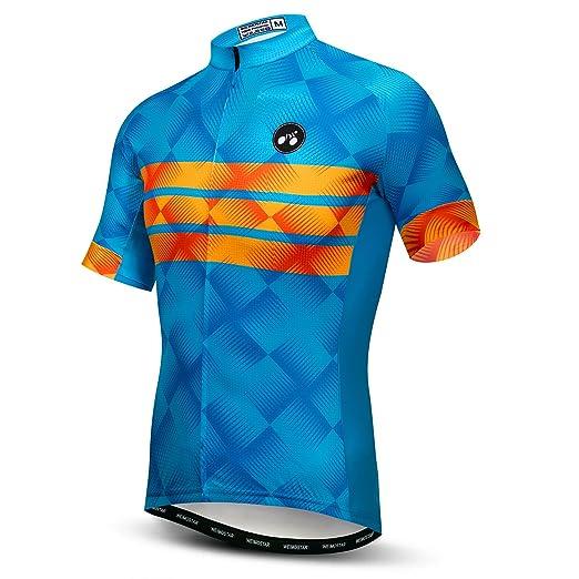 Amazon.com  Weimomonkey Mens Cycling Jersey Short Sleeve T Shirt Cycling  Top Breathable Bike Biking Shirts  Clothing b3b1002d7
