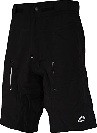 33fc5bf77882 More Mile 2 in 1 Mens Baggy Cycling Shorts - Black  Amazon.co.uk ...