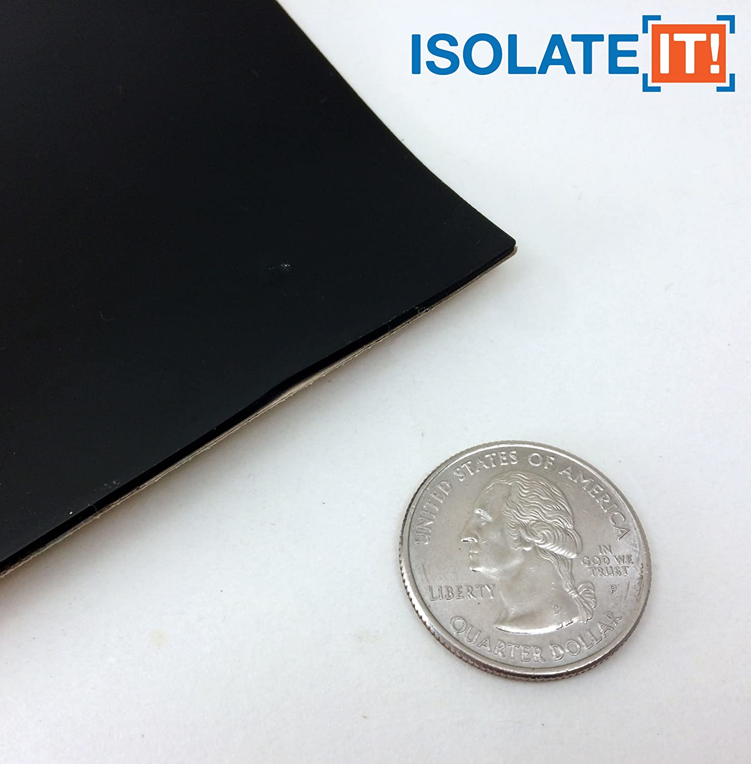 0.04 x 4 x 6in Sorbothane Acoustic /& Vibration Damping Film 40 Duro Isolate It!