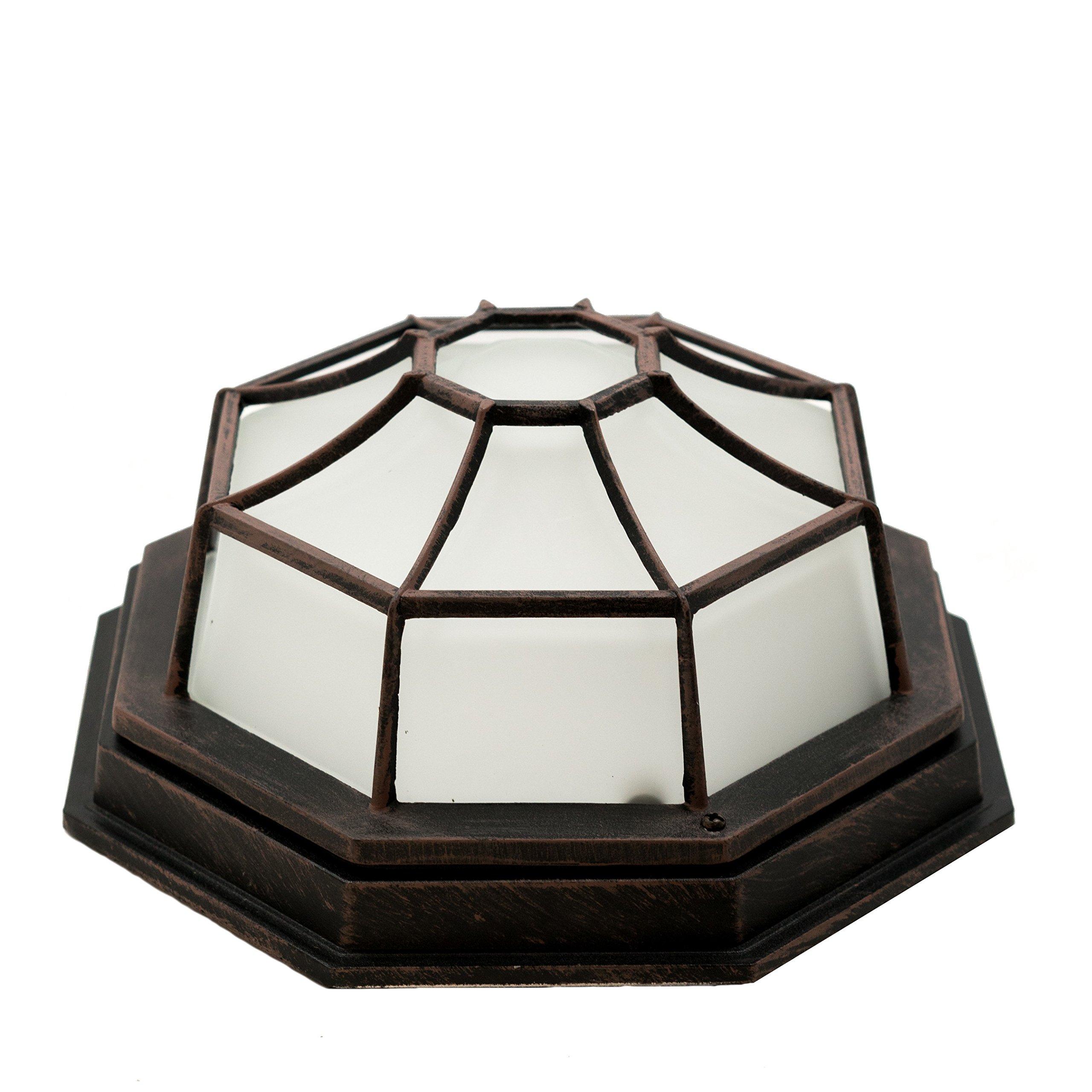 Trans Globe Lighting 40582 RT Outdoor Benkert 5'' Flushmount Lantern, Rust by Trans Globe Lighting (Image #3)