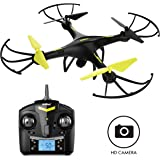 """Force1 Drones with Camera - """"U45 Raven"""" 720p HD Camera Drone with 4GB SD Card and Card Reader RC Drone Camera Kit with Drone Quadcopter LED Toys Lights"""