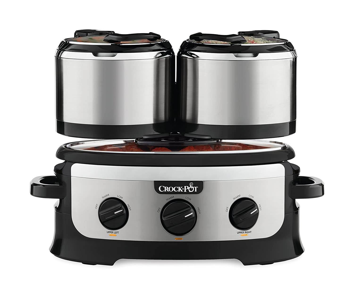Crock-pot SCCPTOWER-S Swing and Serve Slow Cooker, Stainless, Steel