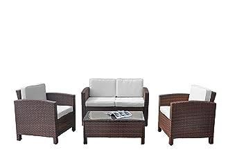 deluxe lounge mobel set gruppe garnitur gartenmobel lounge set rattan polyrattan sitzgruppe