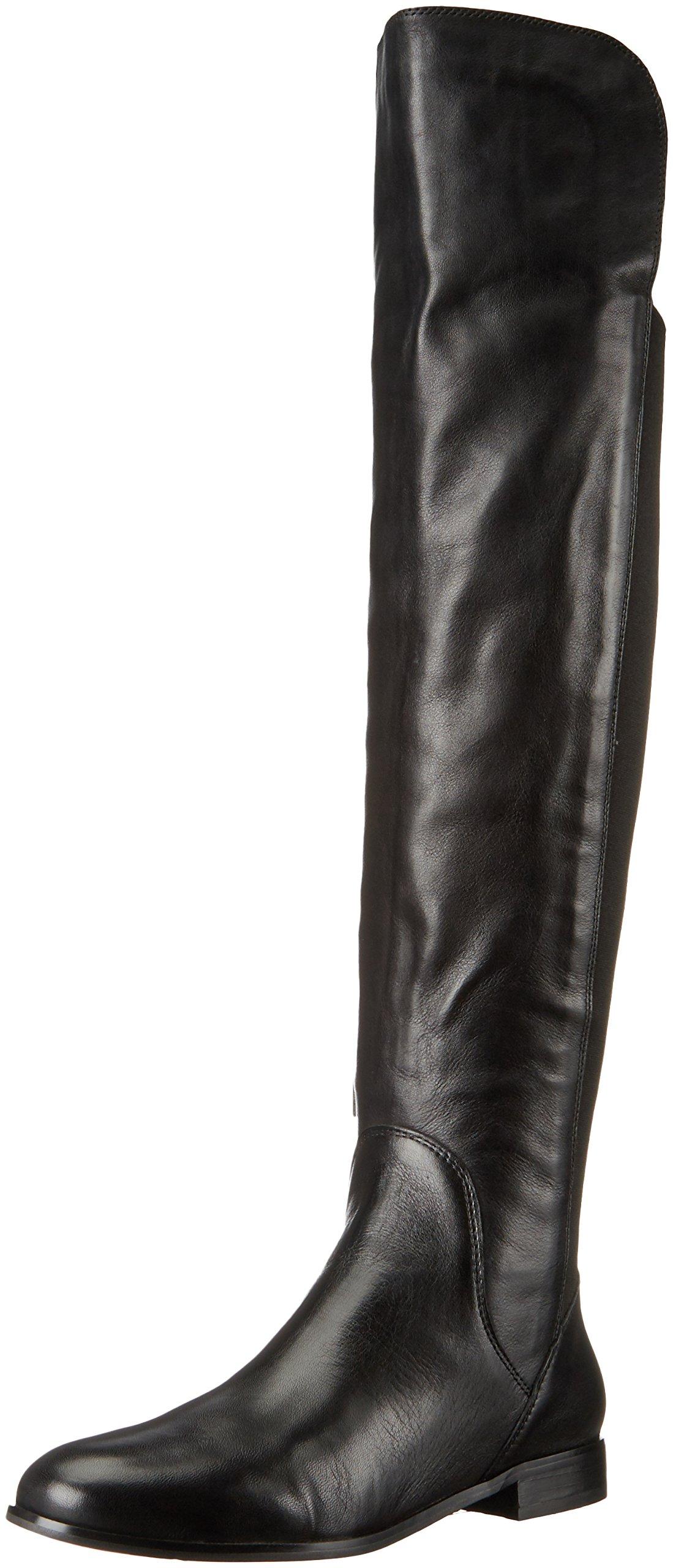 Corso Como Women's Larissa Riding Boot, Black Soft Tumbled Leather, 8 M US by Corso Como