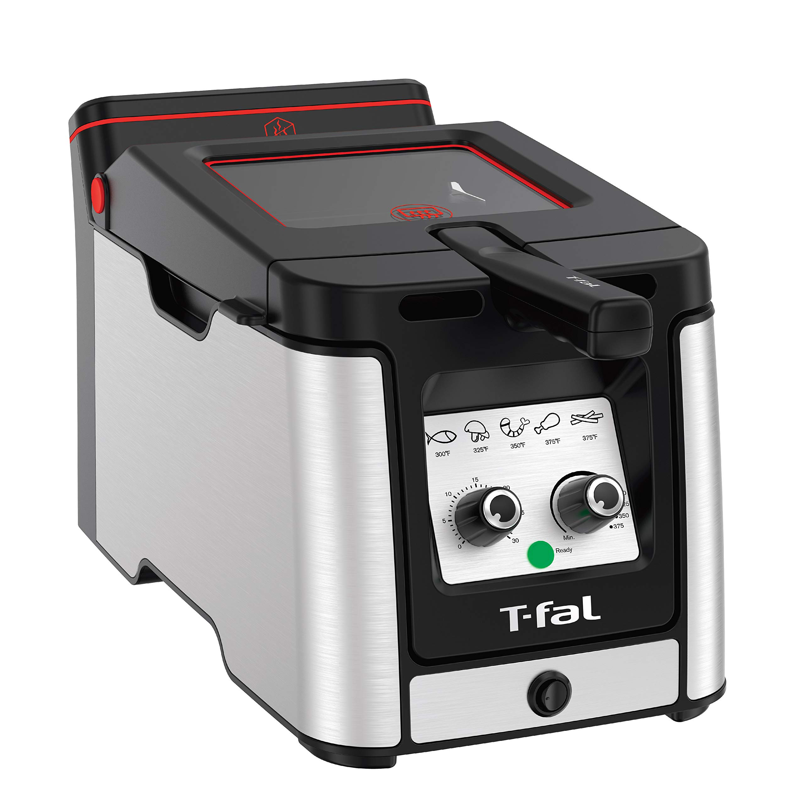 T-Fal FR600D51 Odorless Easy Clean Deep Fryer with Filtration System, 3.5-Liter, Stainless Steel by T-fal