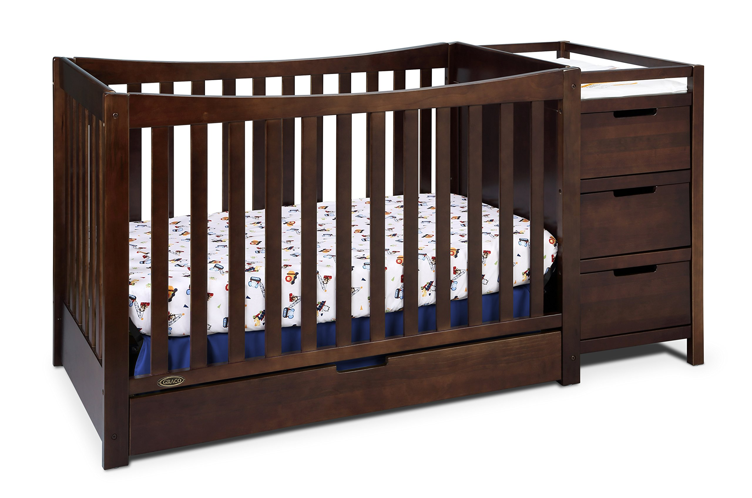 Graco Remi 4-in-1 Convertible Crib and Changer, Espresso