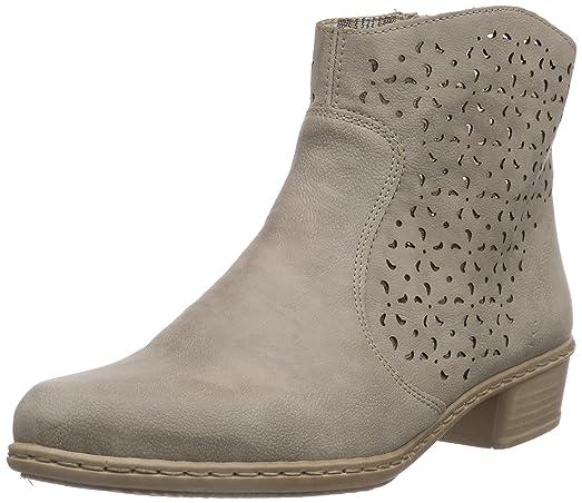 Y0766 - botas de material sintético mujer, color gris, talla 41 Rieker