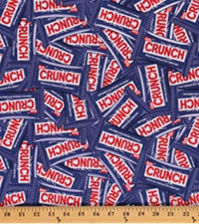 74fe5e38f04d6 Amazon.com: Cotton Packed Snickers Candy Cotton Fabric Print by the ...