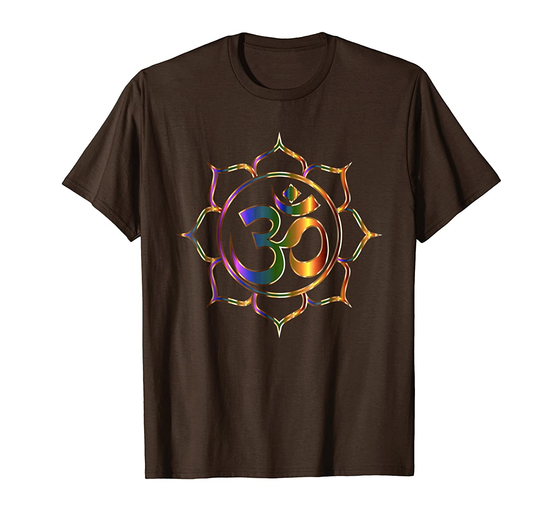 Amazon Namaste T Shirt Om Sanskrit Symbol Lotus Buddha Yoga Tee