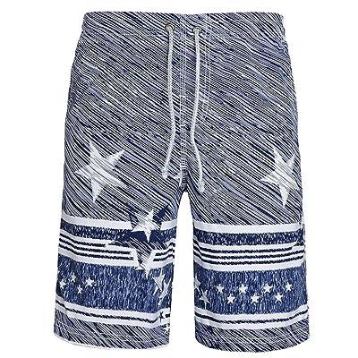 d55a4694fa359 Allywit Men Swim Trunks,Quick Dry Stripes Star Swim Trunks Beach Shorts  Swimwear