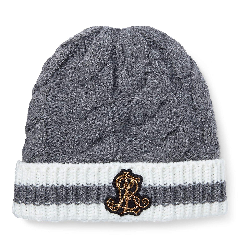 Mid Grey Heather(lc0164037) Ivory Lauren Ralph Lauren Women`s Logo Patch Ribbed Knit Hat