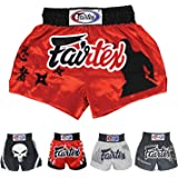 Fairtex Muay Thai Boxing Shorts Satin Size: S M L XL Color: Black Red Blue White Yellow Pink Green