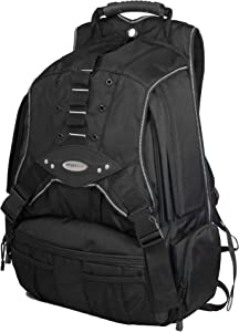 Mobile Edge Black w/Silver Trim Premium Large Size 17.3 inch PC's Laptop Backpack Cool-Mesh Ventilated Back Panel, SafetyCell Protection, Men, Women, Business, Student MEBPP1