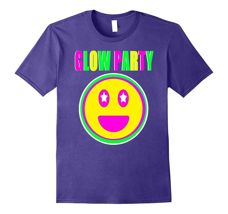 Neon Glow Party Smiley Face Emoji Theme Party Shirt