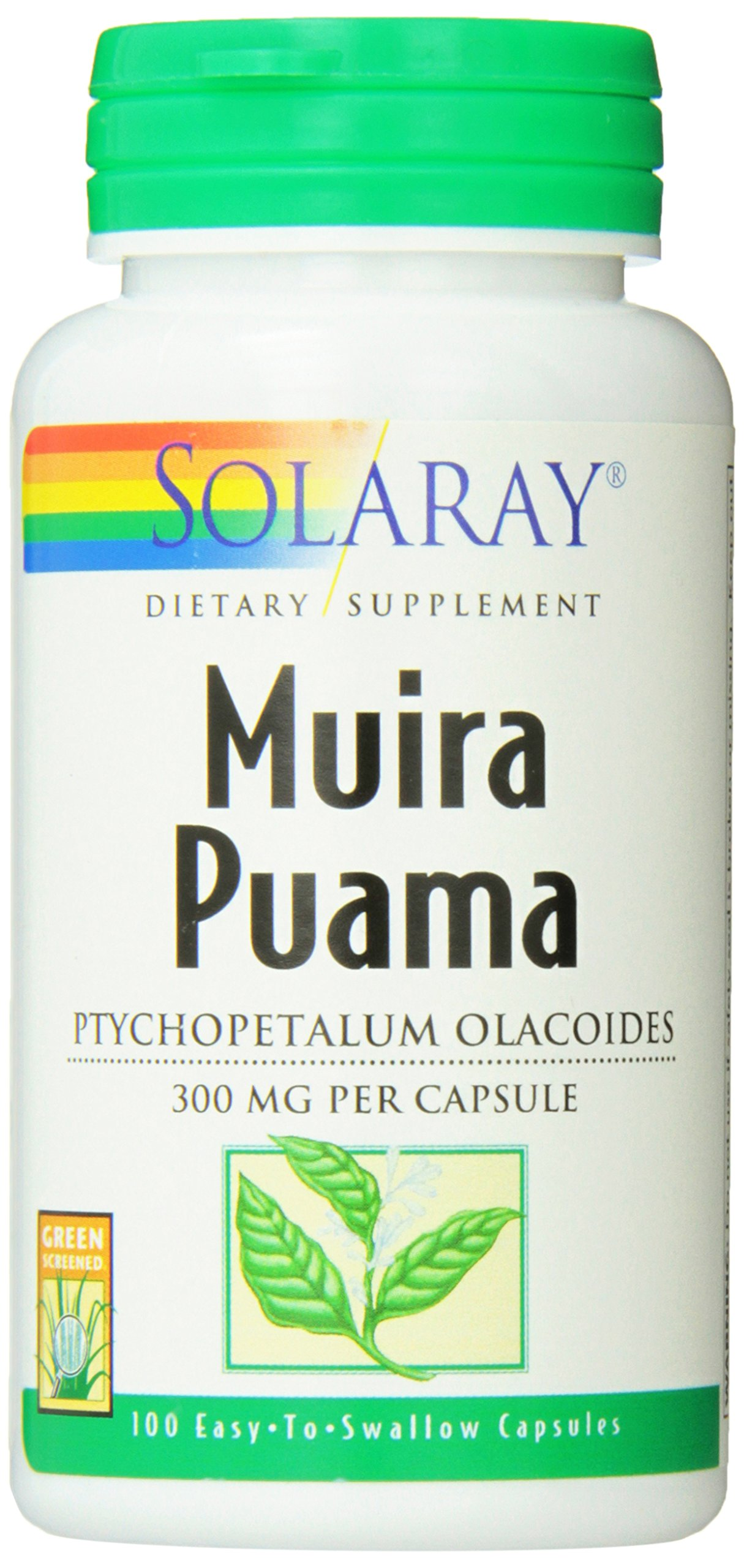 Solaray Muira Puama Root, 300 mg, 100 Count by Solaray (Image #1)
