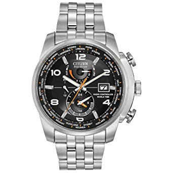 0e17d96ec5e Citizen Men s Eco-Drive World Time Atomic Timekeeping Watch with Day Date