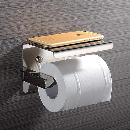 Portarrollos para Papel Higiénico, MoEvert Toallero de Papel portarrollos baño adhesivo Acero inoxidable SUS304 con