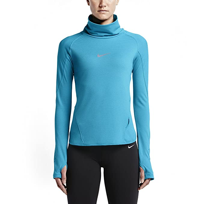 4ac90ab14 Amazon.com: Nike Women's AeroReact Running Top (Small, Blue): Clothing