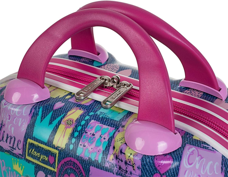 Plusieurs Compartiments et Miroir Color Rose /étui de Toilette Grand Format de Voyage Rigido Infantile Hard Case SKPAT La qualit/é 56835 2 poign/ées et bandouli/ère