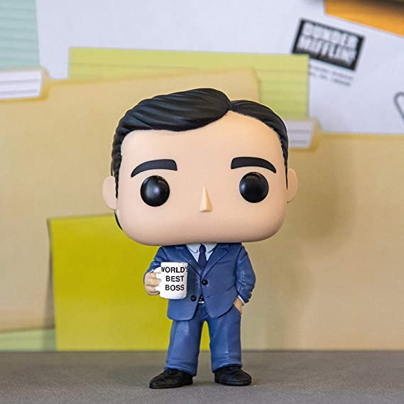 Funko TV: The Office - Michael Scott Pop! Vinyl Figure (Includes Compatible Pop Box Protector Case)